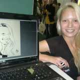 Die Blonde – Live-Karikatur | Schnellzeichnung