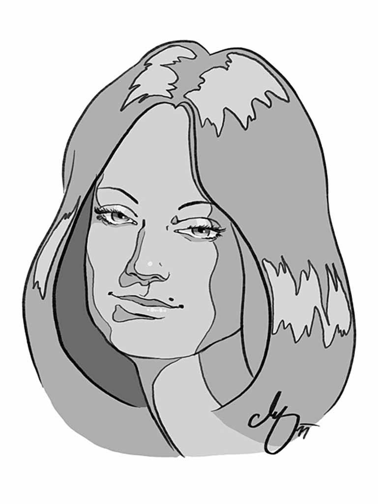 Die Dame - Digital Porträt