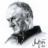 Gene Hackman – Bleistift Porträt