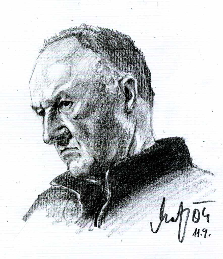 Gene Hackman - Bleistift Porträt