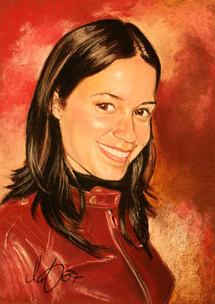 Pastell-Kreide Porträt