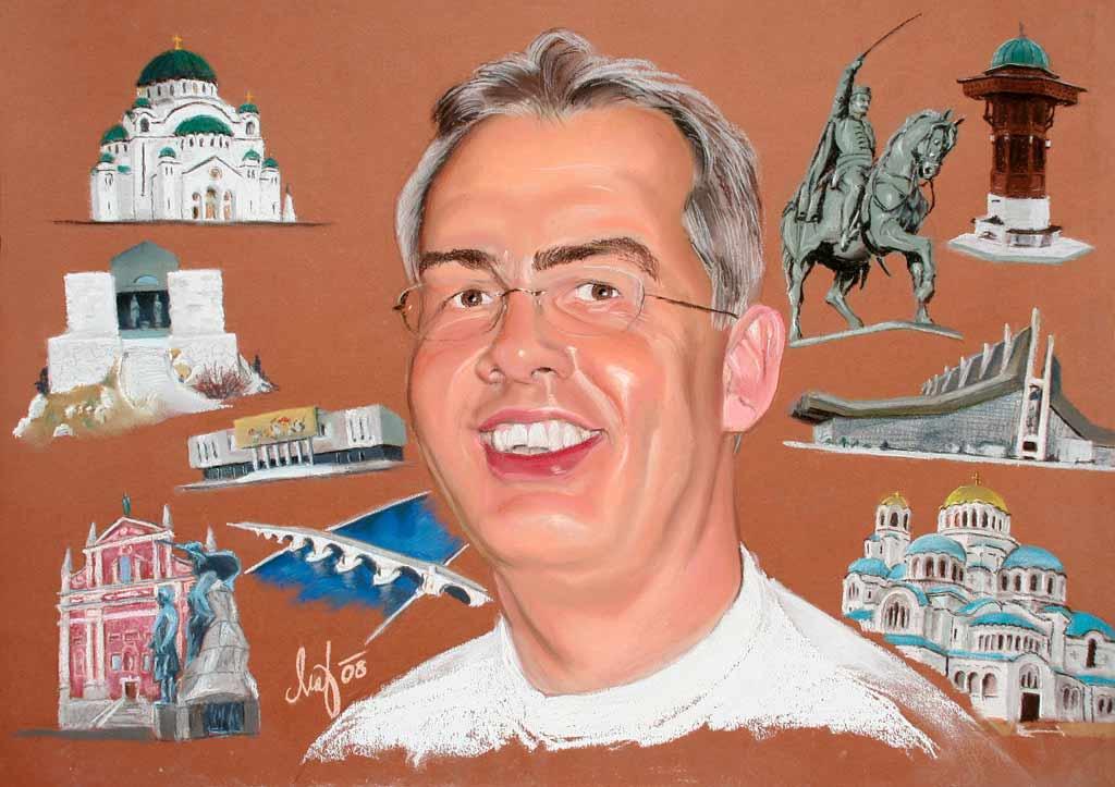 Die Orten - Pastell-Kreide Porträt