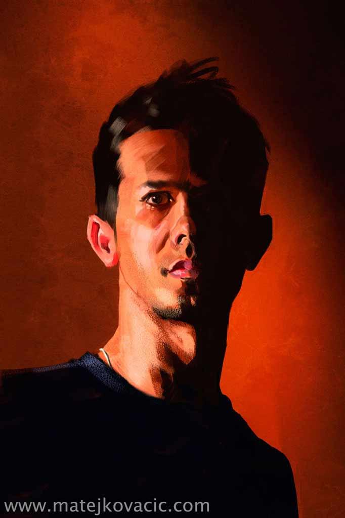 Das Rote Porträt - Digital Porträt