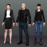 Kleider Varianten Concept Art für Playata