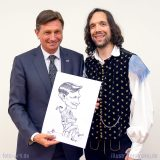 Live-Karikatur Borut Pahor – Der slowenische Staatspräsident – by Matej Kovacic