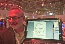 Digitale Live-Karikatur Metro in Düsseldorf by Matej Kovacic 1